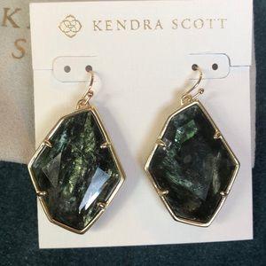 Kendra Scott Gold/Sage Mica Dunn Earrings NWOT